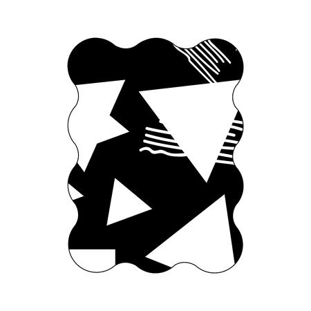 contour rectangle with geometric figure stye background