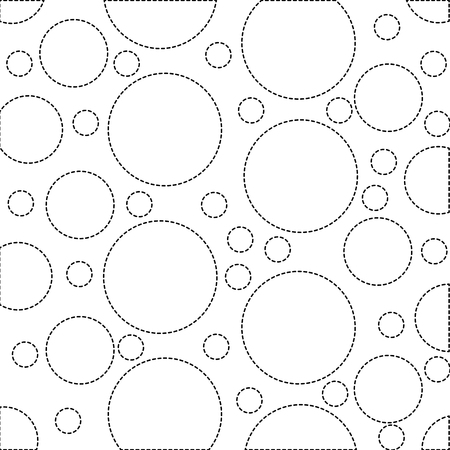dotted shape circle design memphis style background vector illustration