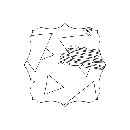 line square with geometric figure stye background vector illustration Illustration