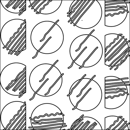 line abstract circle memphis style background vector illustration Illustration