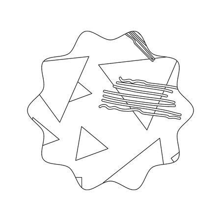 line star with geometric figure stye background vector illustration