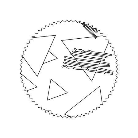 line circle with geometric figure stye background vector illustration Illustration
