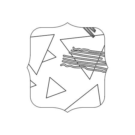 line quadrate with geometric figure stye background vector illustration