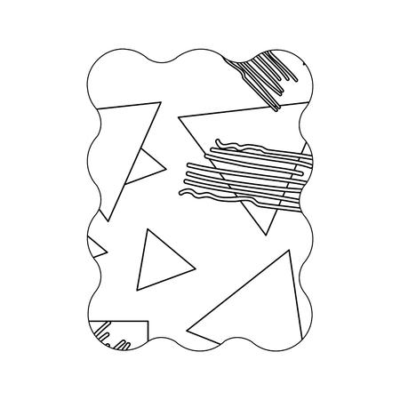 line rectangle with geometric figure stye background vector illustration