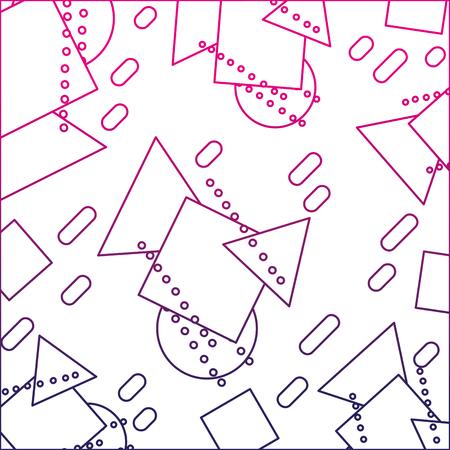 color line geometric figures memphis style background vector illustration Stock Vector - 91363237