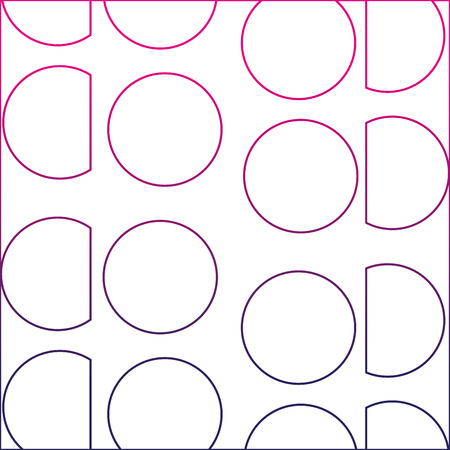 color line circle and triangle memphis style background vector illustration