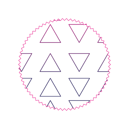 color line circle with graphic geometric style background vector illustration