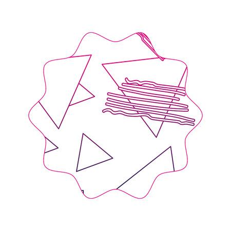 color line star with geometric figure stye background vector illustration Illustration