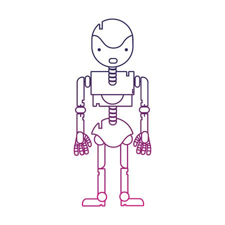 Máquina De Robot De Línea De Color Con Diseño De Cuerpo De ...