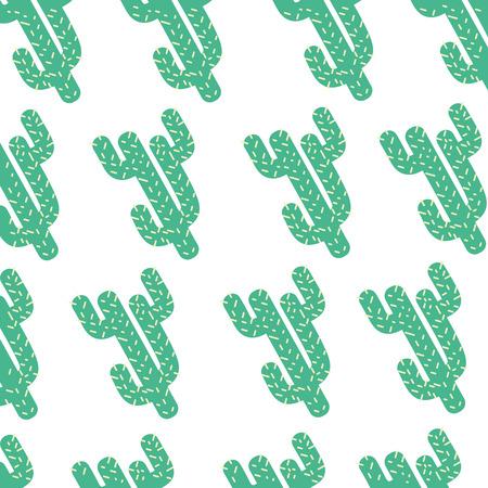 A colorful natural cactus plants background design vector illustration