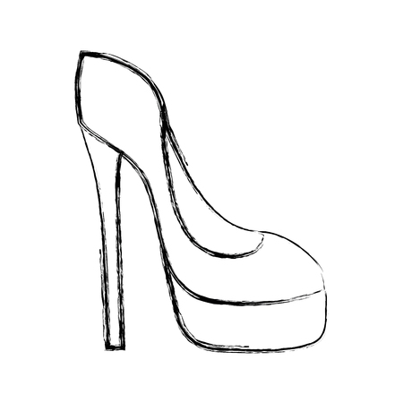 A figure fashion heels high shoes style vector illustration Ilustração