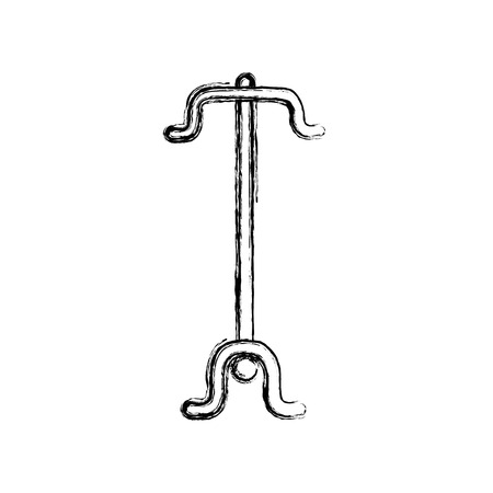 A figure coat rack object to clothes hanger vector illustration