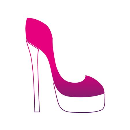 Silhouette fashion heels high shoes style illustration.
