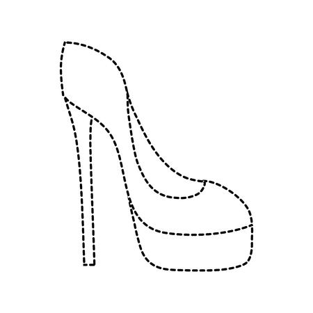 A dotted shape fashion heels high shoes style vector illustration Ilustração