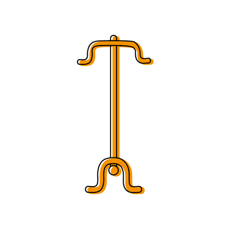A color coat rack object to clothes hanger vector illustration Illustration