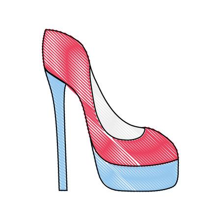 grated fashion heels high shoes style vector illustration Ilustração
