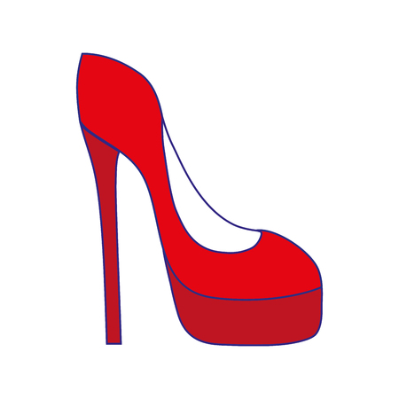 Red high heel shoes illustration.