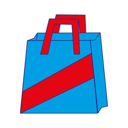 Shopping bag object to custom shop illustration.