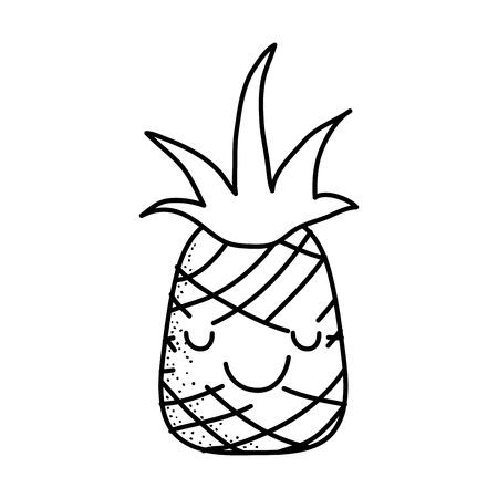 Pineapple fruit icon design illustration.