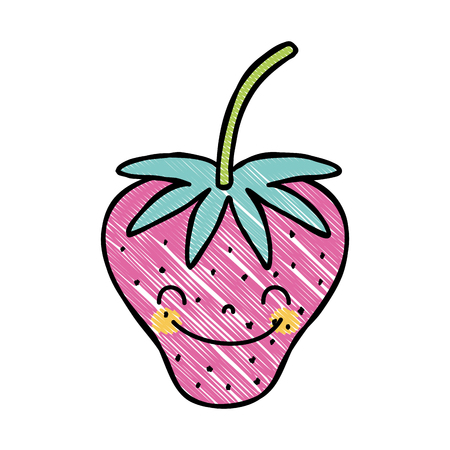 Grated cute strawberry