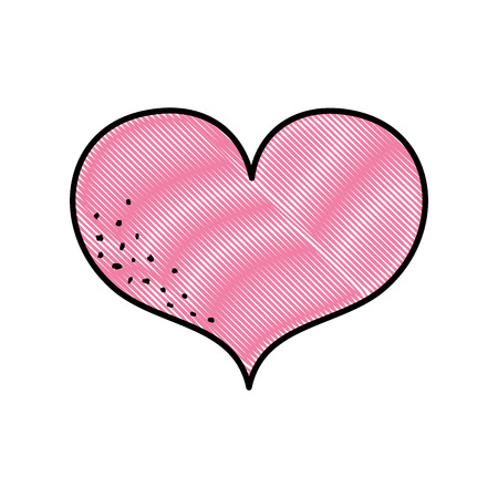 Heart symbol of love and passion icon illustration