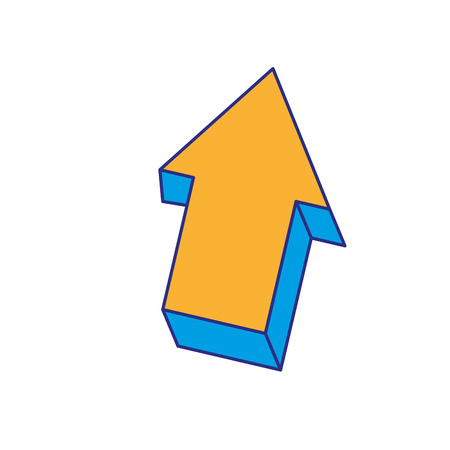 Full color creative arrow design grapphic element  illustration