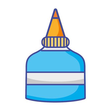 glue school tool to education study Ilustração