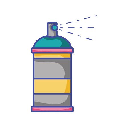 aerosol spray can paint art vector illustration
