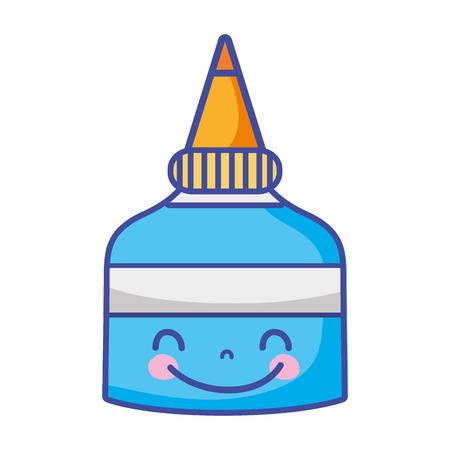 cute happy glue bottle