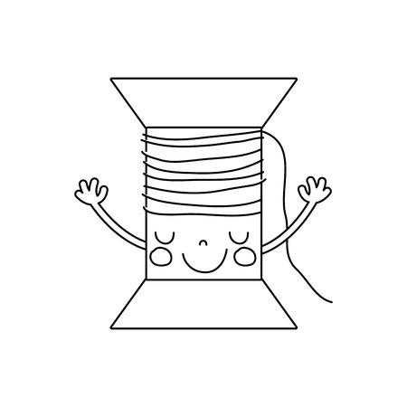 腕のベクトル図と線かわいい幸せスレッド