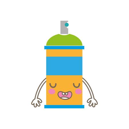 Colorful cute funny aerosol spray