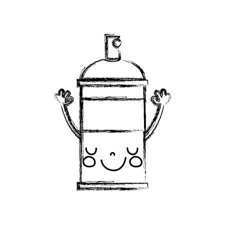 figure emoji cute happy aerosol spray