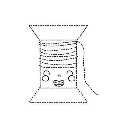 ドット形状可愛い笑顔糸糸オブジェクトベクトルイラスト  イラスト・ベクター素材