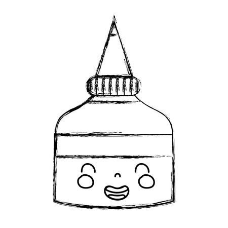 figure cute smile glue bottle