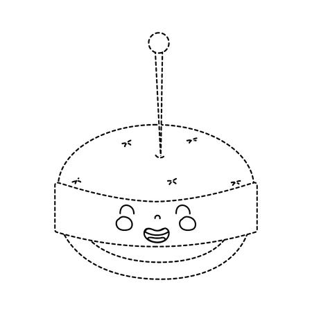 点線図形かわいい笑顔 pin クッション  イラスト・ベクター素材