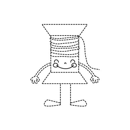 腕と脚を持つ点線形状幸せな糸オブジェクト