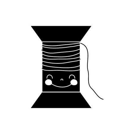 輪郭かわいい幸せなスレッドオブジェクト  イラスト・ベクター素材