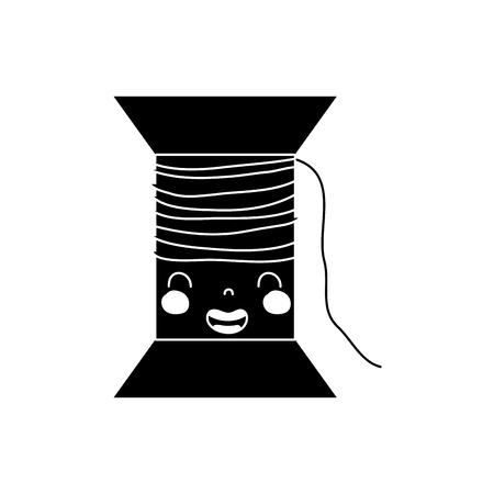 輪郭かわいい笑顔糸オブジェクトベクトルイラスト 写真素材 - 91447218