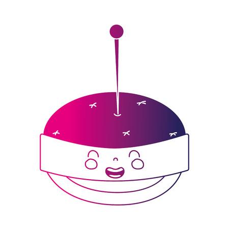 シルエットかわいい笑顔 pin クッション  イラスト・ベクター素材