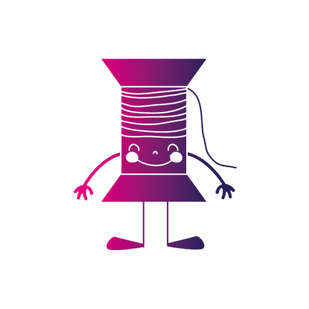 silhouette happy thread object with arms and legs
