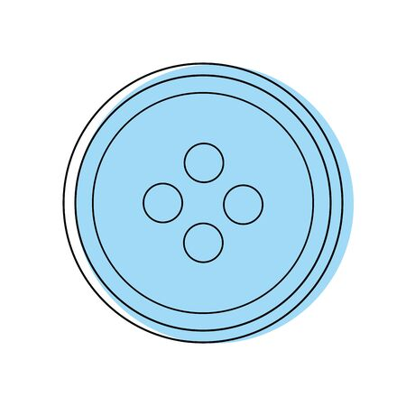 color button object to sewing fashion design Illustration