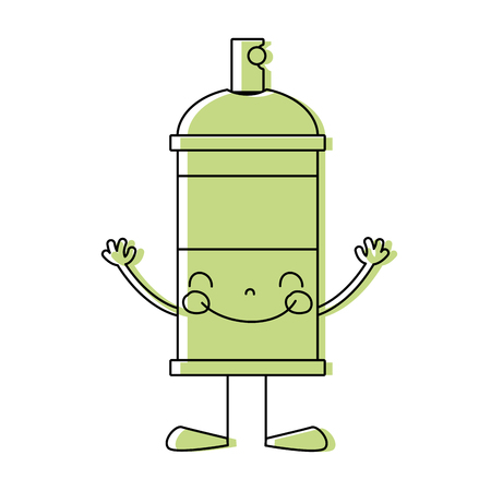 color happy aerosol spray with arms and legs
