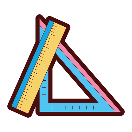 line color rulers school utensils to education and learn Illustration