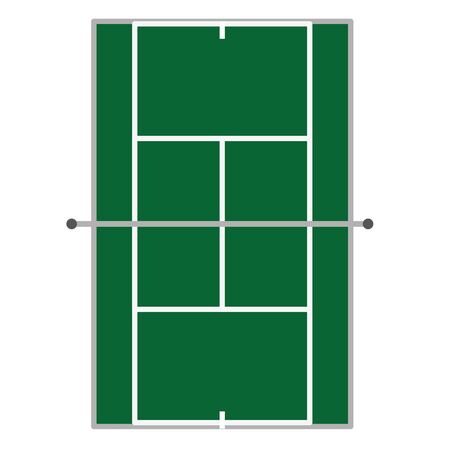 Tennis court of sport competition and game theme Isolated design Vector illustration Illustration