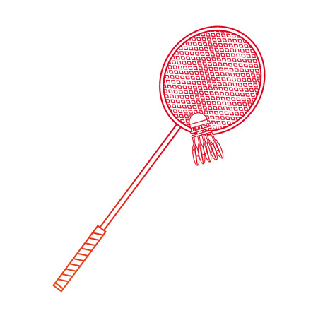 Badminton racket of sport competition and game theme Isolated design Vector illustration