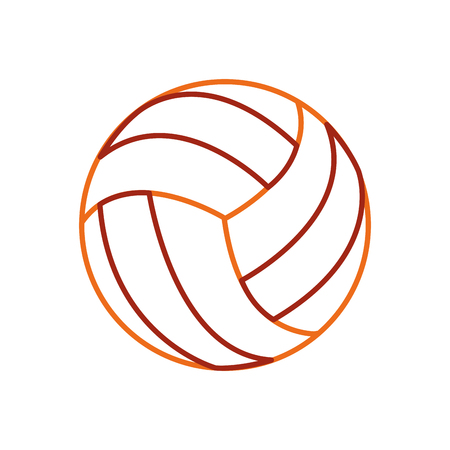 Volleyball ball of sport competition and game theme Isolated design Vector illustration