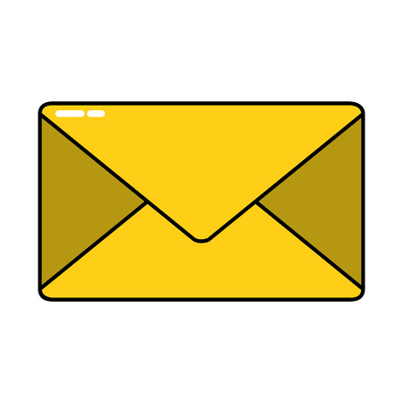 Envelope of email message and letter theme Isolated design Vector illustration