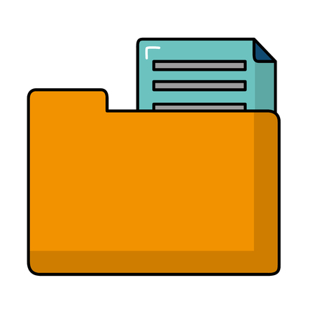 File of document data and archive theme Isolated design Vector illustration