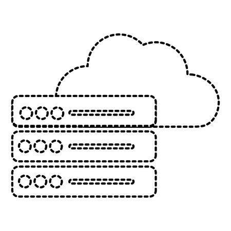 Web hosting of data center and base theme. Isolated design, vector illustration. Vettoriali