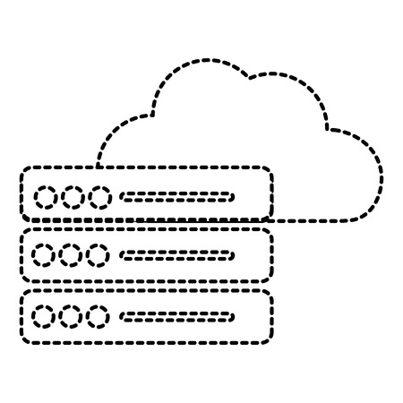 Web hosting of data center and base theme. Isolated design, vector illustration. Illusztráció